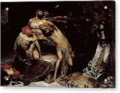 Samson Acrylic Print by Solomon Joseph Solomon