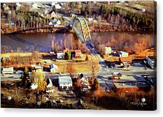 Samuel Morley Bridge Fairlee Vt To Orford Nh Acrylic Print