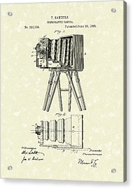 Samuels Photographic Camera 1885 Patent Art Acrylic Print