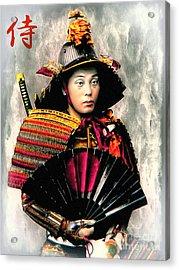 Samurai 1898 With Iron Fan Acrylic Print