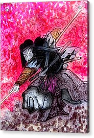 Samurai Acrylic Print by Jeff DOttavio