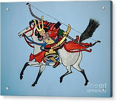 Acrylic Print featuring the painting Samurai Rider by Stephanie Moore