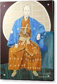 Samurai-san -- Portrait Of Japanese Warrior Acrylic Print