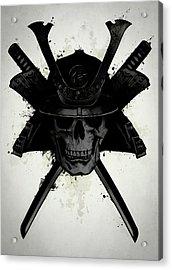 Samurai Skull Acrylic Print