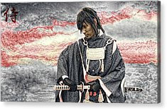 Samurai Warrior Acrylic Print by Ian Gledhill