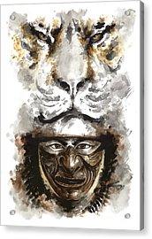 Samurai - Warrior Soul. Acrylic Print by Mariusz Szmerdt