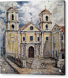 San Agustin Church 1800s Acrylic Print by Joey Agbayani