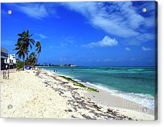 San Andres Island Beach View Acrylic Print by John Rizzuto