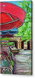 San Antonio River Walk Cafe Acrylic Print