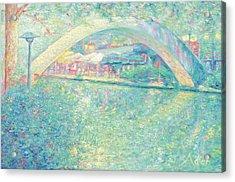 San Antonio Riverwalk Acrylic Print by Felipe Adan Lerma
