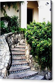 San Antonio Stairway Acrylic Print by Will Borden