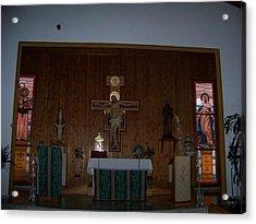 San Bernardo Abad,la Virgen Milagrosa Acrylic Print