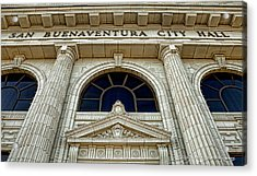 Acrylic Print featuring the photograph San Buenaventura City Hall by John A Rodriguez