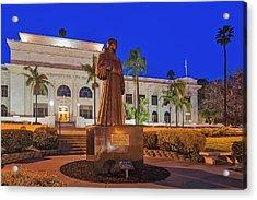 Acrylic Print featuring the photograph San Buenaventura City Hall by Susan Candelario