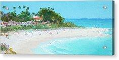 San Clemente Beach Panorama Acrylic Print by Jan Matson