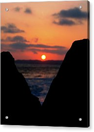 San Clemente Beach Rock View Sunset Portrait Acrylic Print
