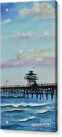 Acrylic Print featuring the painting San Clemente Evening by Mary Scott