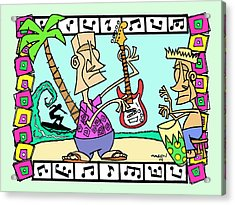 San Clemente Ocean Festival Tiki Acrylic Print by Aaron Bodtcher