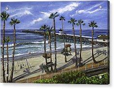San Clemente Pier Acrylic Print by Lisa Reinhardt