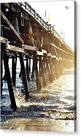 Acrylic Print featuring the photograph San Clemente Pier Magic Hour by Kyle Hanson
