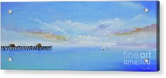 Acrylic Print featuring the painting San Clemente Sail by Mary Scott