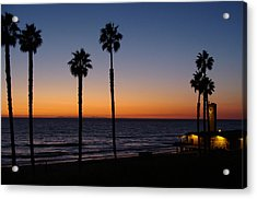 San Clemente Sunset Acrylic Print by Ty Nichols