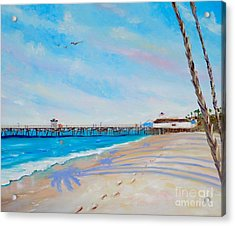 Acrylic Print featuring the painting San Clemente Walk by Mary Scott