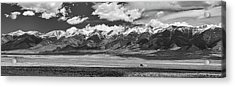 San De Cristo Mountains Panorama In Black And White Acrylic Print by James BO Insogna