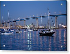 San Diego Bay At Nightfall Acrylic Print