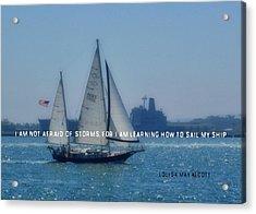 San Diego Bay Quote Acrylic Print