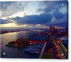 San Diego By Night Acrylic Print