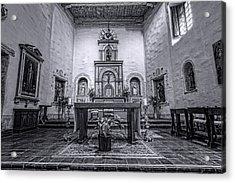 San Diego De Alcala Altar - Bw Acrylic Print