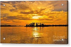 San Diego Golden Sky By Jasna Gopic Acrylic Print by Jasna Gopic