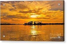 San Diego Golden Sky By Jasna Gopic Acrylic Print