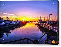 San Diego Harbor Sunrise Acrylic Print