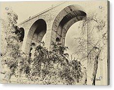 San Diego Historical Cabrillo Bridge Acrylic Print by Russ Harris