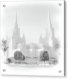 San Diego Lds Temple Acrylic Print