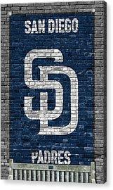 San Diego Padres Brick Wall Acrylic Print by Joe Hamilton