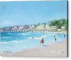 San Diego Pier Acrylic Print by Jan Matson