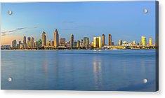 San Diego Skyline At Dusk Acrylic Print