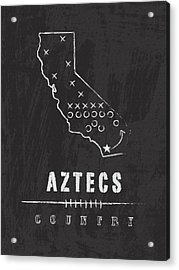 San Diego State Aztecs Country Acrylic Print by Damon Gray