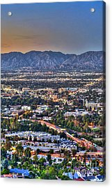 San Fernando Valley Vertical Acrylic Print by David Zanzinger