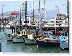 San Fran Boats Acrylic Print by Melanie Beasley