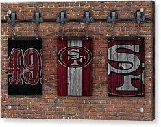 San Francisco 49ers Brick Wall Acrylic Print by Joe Hamilton