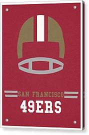 San Francisco 49ers Vintage Art Acrylic Print