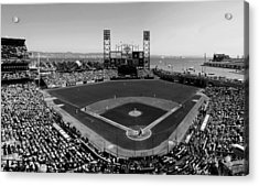 San Francisco Ballpark Bw Acrylic Print