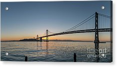 San Francisco Bay Brdige Just Before Sunrise Acrylic Print