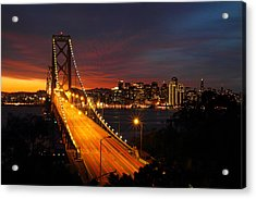 San Francisco Bay Bridge At Sunset Acrylic Print