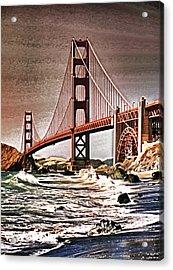 San Francisco Bridge View Acrylic Print by Dennis Cox WorldViews