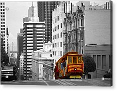 San Francisco Cable Car - Highlight Photo Acrylic Print